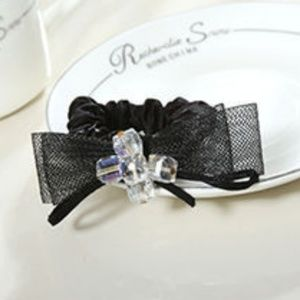 3FOR$15 Bow with 5 Crystals Hair Tie !